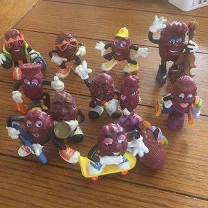 12 California Raisin Figurines